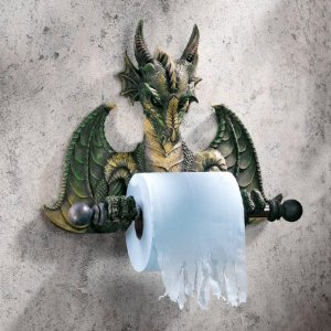 Commode Dragon tissue holder
